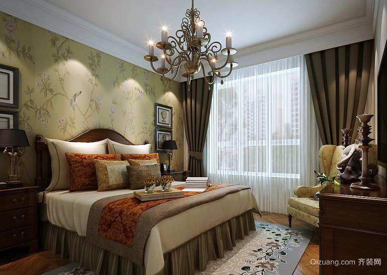 2016大方的美式装修风格样板房卧室效果图