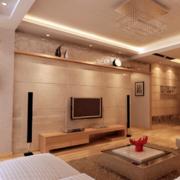 2016精致时尚的欧式复式楼客厅装修效果图