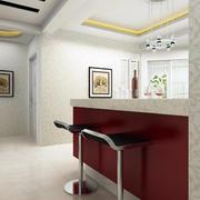 120平米自然风格吧台设计装修效果图