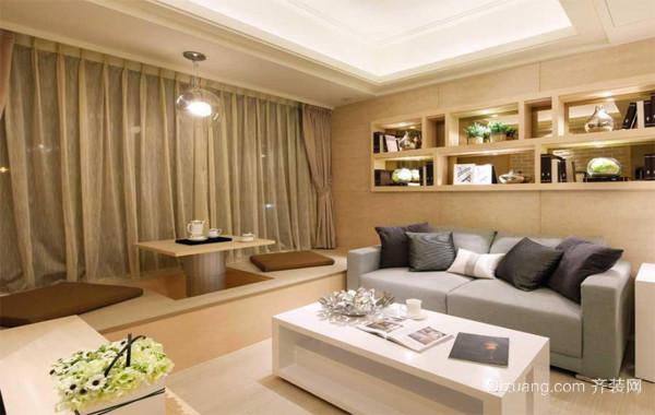 120平米精致的的大户型欧式客厅飘窗装修效果图