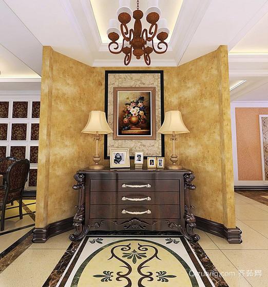 大别墅欧式玄关装饰柜装修效果图