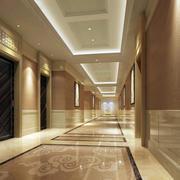 现代风格大酒店走廊吊顶装修效果图