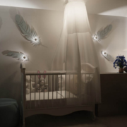 2016精致的大户型儿童房背景墙装修效果图