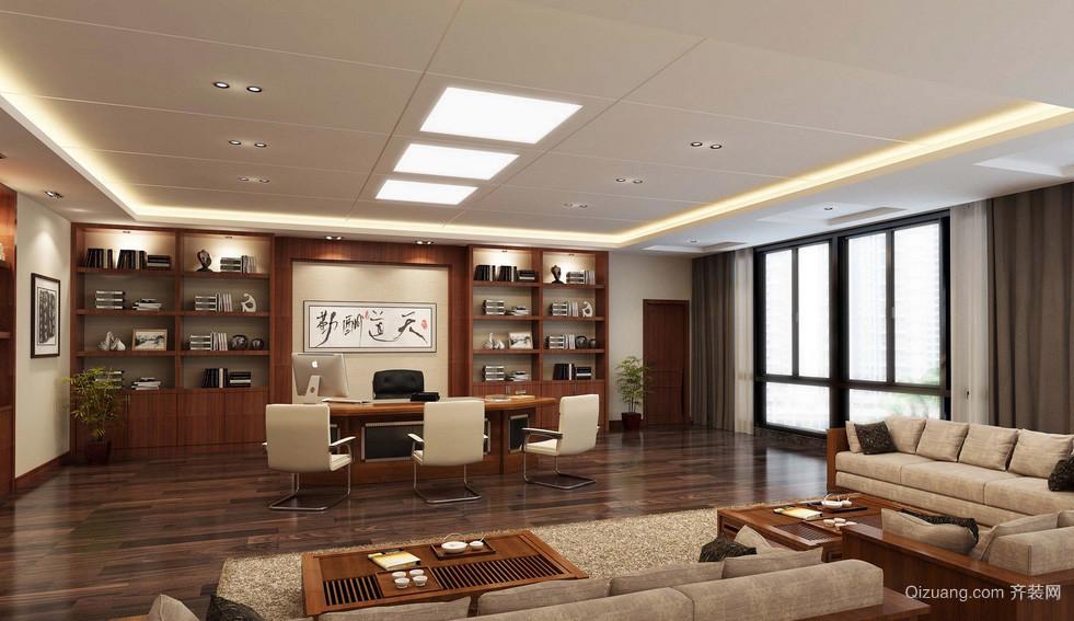 新中式写字楼办公室装潢设计效果图