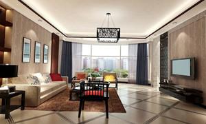 80平米小户型家装新中式客厅案例