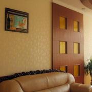 三居室居室暖色调液体壁纸装修效果图片