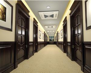 豪华大型酒店走廊吊顶装修效果图