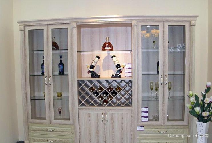 2016酒柜欧式效果别墅图片风格-齐装网装修效吊脚楼式小别墅图片