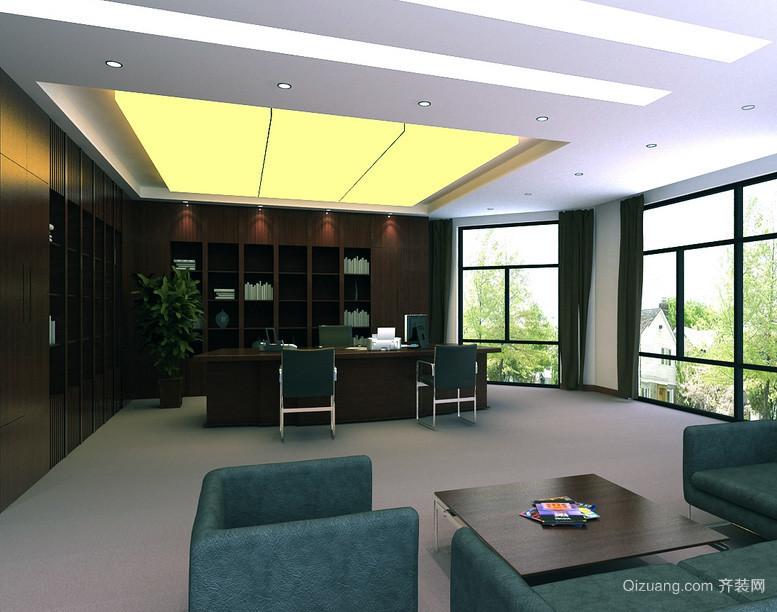 2016精美的时尚老板办公室吊顶装修效果图鉴赏