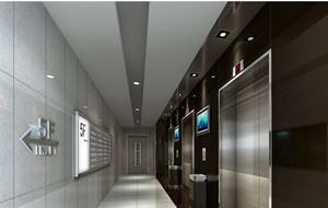 高级写字楼电梯装潢设计效果图