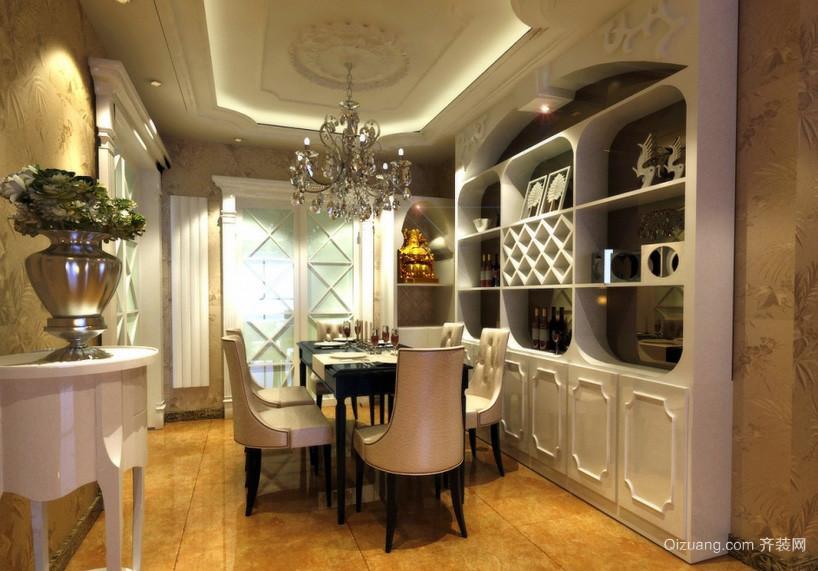 温馨欧式别墅餐厅装饰柜装修效果图