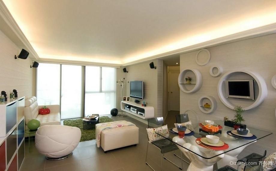 现代三室一厅家居客厅装修效果图