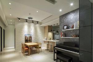 简约家居餐厅文化砖背景墙装修效果图