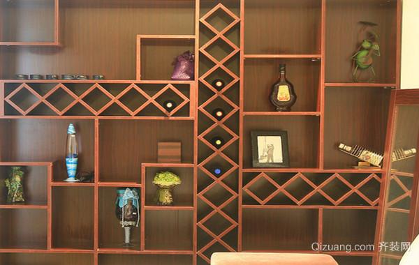 大户型实木酒柜效果图片