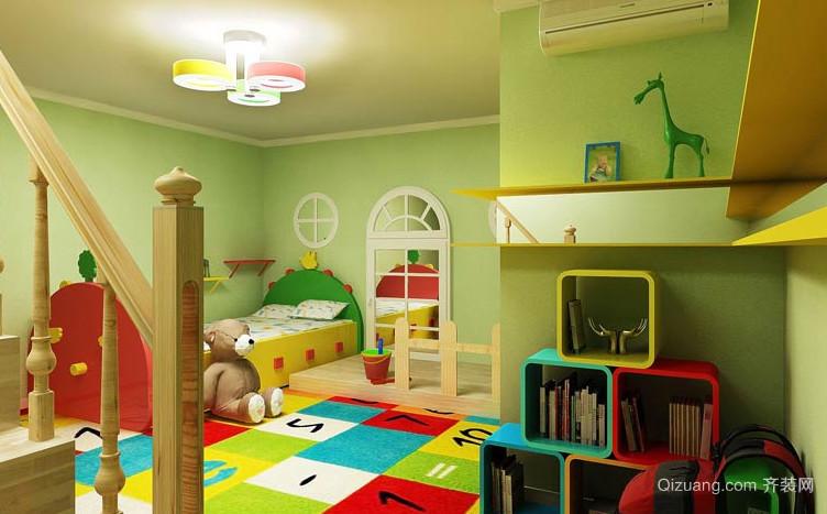 二居室田园风格儿童卧室装修效果图