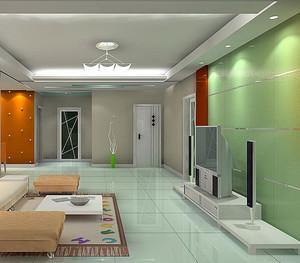 复式楼创意客厅电视背景墙效果图