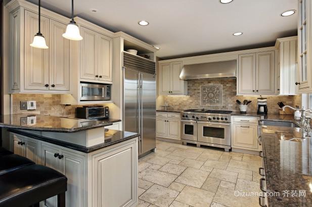 2016二居室暖色调厨房装修效果图 齐装网装修效果图 -颜色高清图片