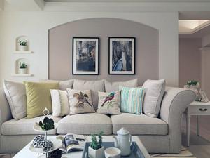 美式简约型公寓客厅