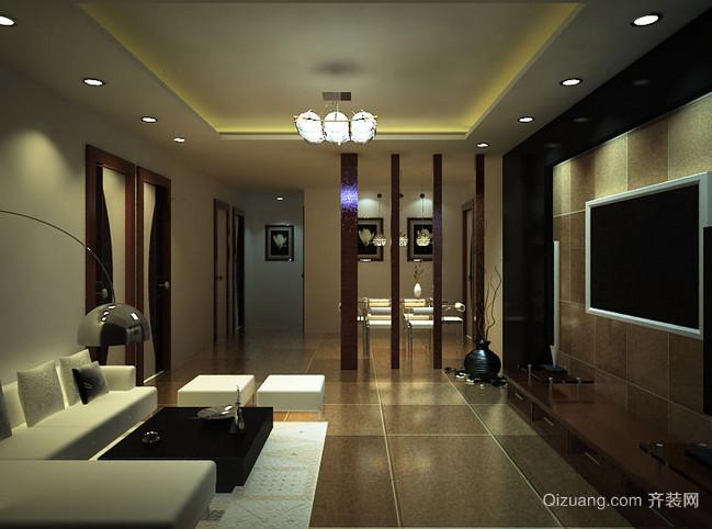 2016大户型精致风格客厅装修效果图