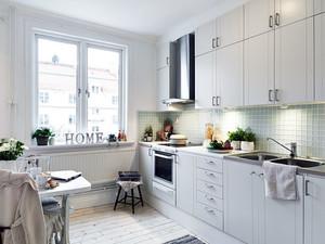 公寓时尚白色小厨房
