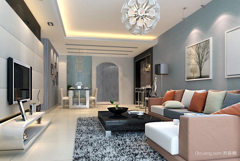 120平米田园风格风格客厅装修效果图