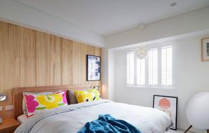 北欧休闲90平简约单身公寓装修平面图