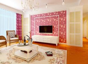 跃层时尚风格客厅电视背景墙效果图