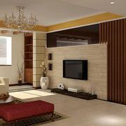 138平米自然风格客厅电视背景墙效果图