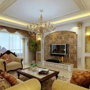 128平米宜家风格客厅电视背景墙效果图