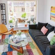 公寓简约化彩色混搭卧室设计