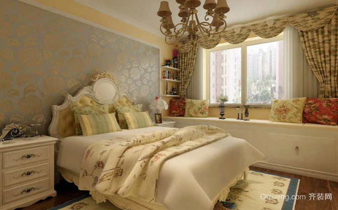 118平米简欧风格卧室装修效果图