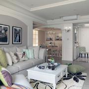 白色简约客厅墙面装饰