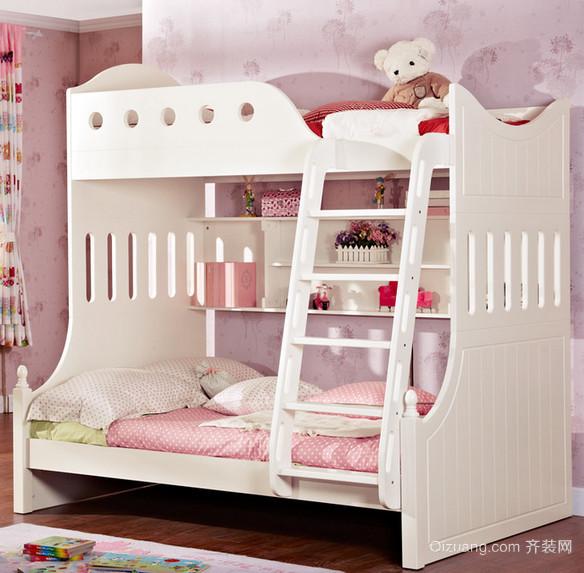 复式楼宜家风格儿童高低床效果图片
