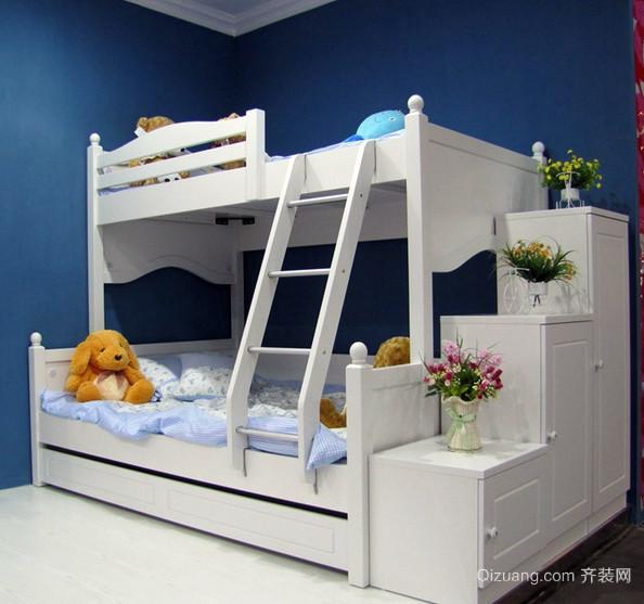 108平米田园风格儿童高低床效果图片