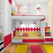 三居室时尚风格儿童高低床效果图片