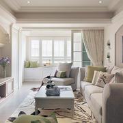 白色唯美型公寓客厅