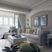 大气唯美型公寓客厅