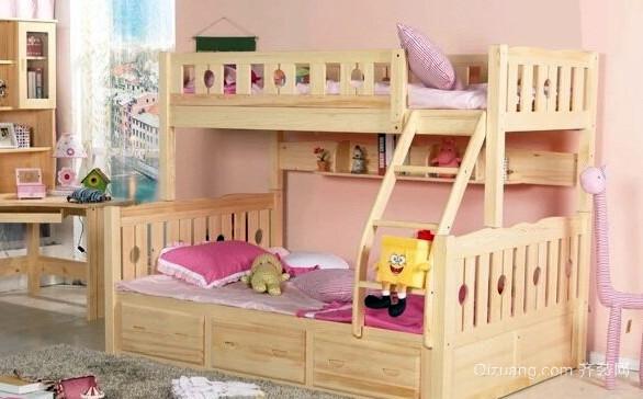 大户型实木儿童高低床效果图片