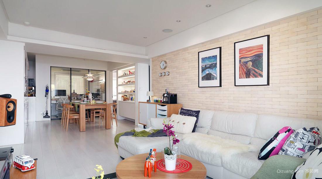 70平米时尚创意型单身公寓样板平面装修