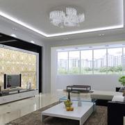 新房唯美型艺术玻璃背景墙效果图