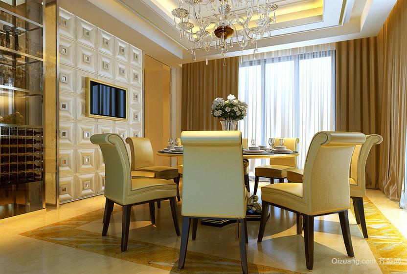 复式楼简约风格餐厅背景墙效果图
