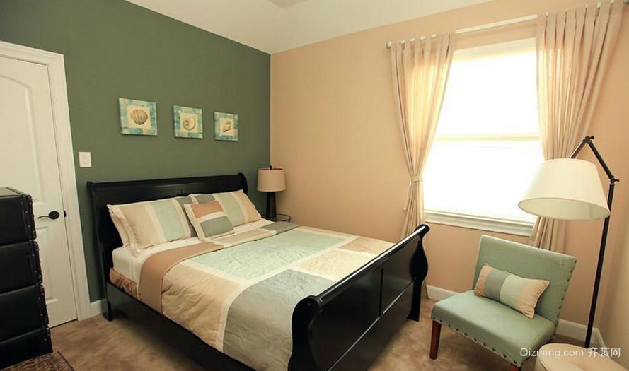二居室时尚风格飘窗窗帘效果图