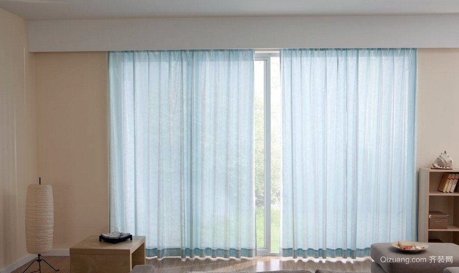 120平米宜家风格飘窗窗帘效果图