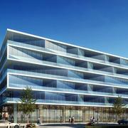 精装高大型办公楼设计效果图