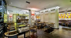 新中式风格港式茶餐厅沙发装修效果图