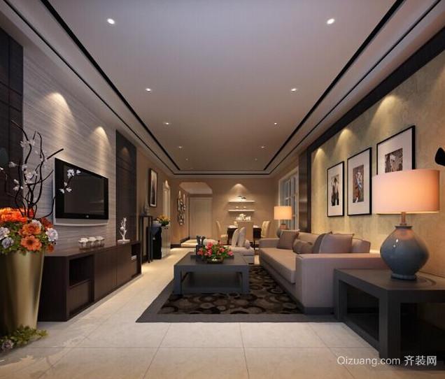 90平米大户型后现代装修风格客厅装修效果图鉴赏
