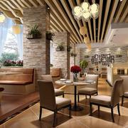 现代田园港式茶餐厅沙发装修效果图