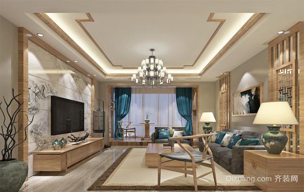 110平米精致的大户型完美中式客厅装修效果图