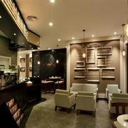 时尚风格咖啡厅效果图