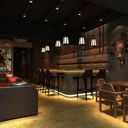 中式风格咖啡厅效果图